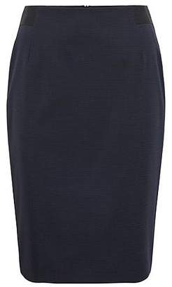 HUGO BOSS Micro-pattern pencil skirt in Italian stretch virgin wool