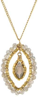 "Dana Kellin Floating Stone Necklace, 16"""