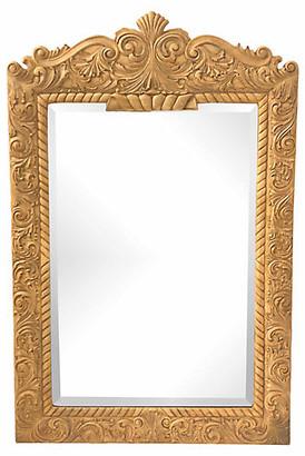 One Kings Lane Vintage Carved Wood Mirror - Von Meyer Ltd.