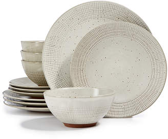 ... Lucky Brand Rustic Weave 12-pc. Dinnerware Set Service for 4 Created  sc 1 st  ShopStyle & Casual Dinnerware Sets - ShopStyle