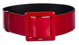 Chanel Patent Leather Wide Belt Red Patent Leather Wide Belt