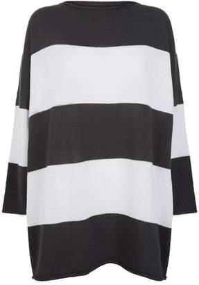 eskandar Hand-Loomed Cotton Striped Sweater