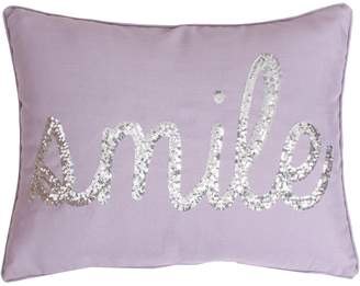 Marlo Lorenz Thro By Thro by ''Smile'' Sequin Throw Pillow