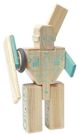 Tegu MagBot - Magnetic Wooden Block Set