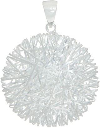 661862bfb702 Ultrafine UltraFine Silver Polished Wire Wrap Pendant 4.8g