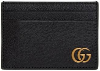 Gucci Black GG Marmont Money Clip Card Holder