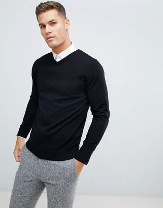 Jack and Jones Essentials 100% Merino V Neck Sweater