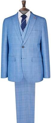 Dorothy Perkins Womens **Burton 1904 Sinatra Blue Skinny Fit Check Suit Jacket