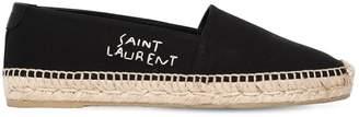 Saint Laurent 20mm Logo Cotton Canvas Espadrilles