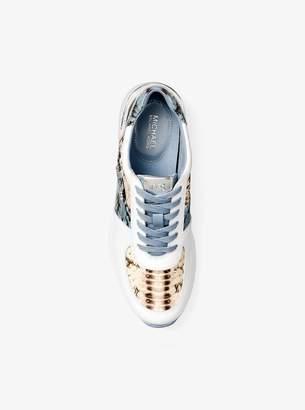 MICHAEL Michael Kors Allie Snake-Embossed Leather Sneaker