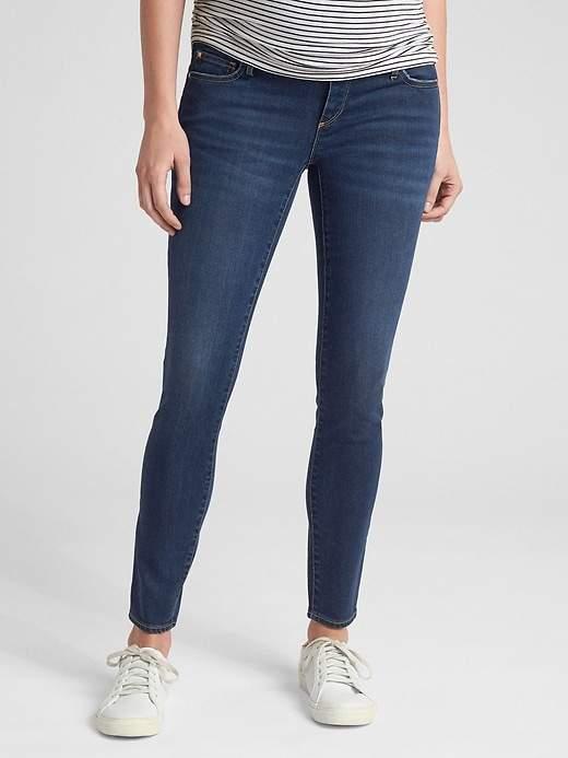 Maternity Soft Wear Seamless Full Panel True Skinny Jeans