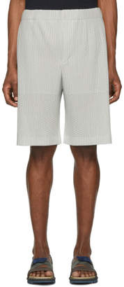 Issey Miyake Homme Plisse Grey Outer Mesh Shorts