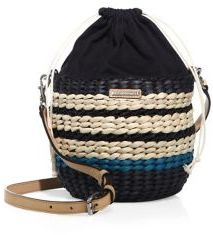 Rebecca Minkoff Mini Straw Basket Crossody Bag $195 thestylecure.com