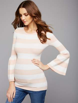 A Pea in the Pod Flutter Sleeve Maternity Sweater