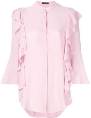 Alexander McQueen ruffled trim blouse