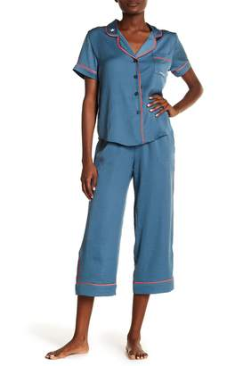 Room Service Silky Embroidered 2-Piece Pajama Set