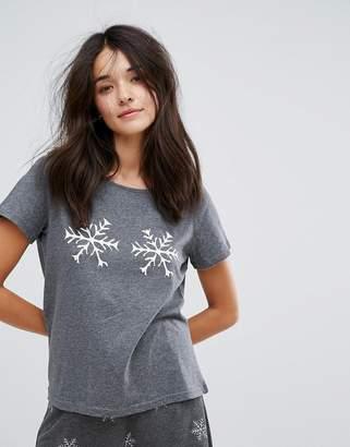 Vero Moda Snowflake Pajama Top