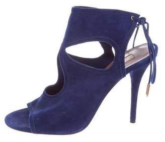 Aquazzura Cut-Out Suede Sandals