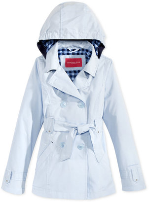 London Fog Hooded Trench Coat, Big Girls (7-16) $54 thestylecure.com