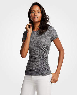 Ann Taylor Side Ruched Knit Top