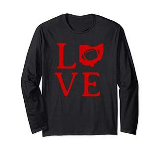 Ohio Loves Football Long Sleeve T Shirt