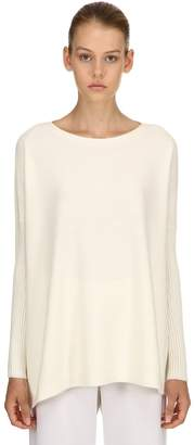 Salvatore Ferragamo Cashmere Sweater W/ Rib Knit Seleeves