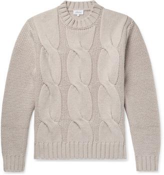 Brioni Cable-Knit Cashmere Sweater - Men - Neutrals