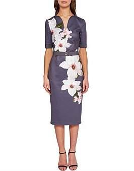 Ted Baker Bisslee Floral Fitted Belted Dress