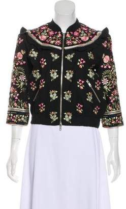 Needle & Thread Embroidered Casual Jacket