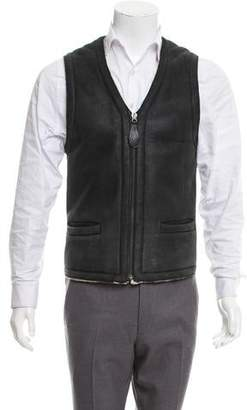 Maison Margiela Fur Zip-Up Vest