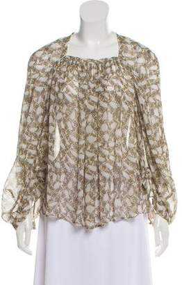 Derek Lam Silk Long Sleeve Top
