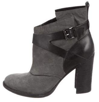 Belle by Sigerson Morrison Round-Toe Nubuck Ankle Boots