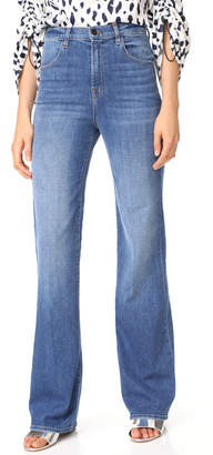 J Brand Joan High Rise Straight Jeans $228 thestylecure.com