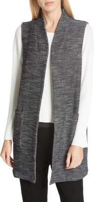 Eileen Fisher Long Organic Cotton Blend Vest