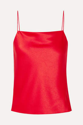 Alice + Olivia Alice Olivia - Harmon Draped Satin Camisole - Red