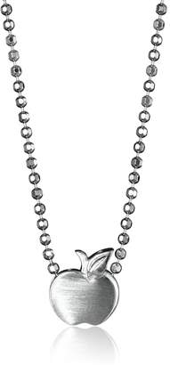 "Alex Woo Little Apple in Sterling Pendant Necklace, 16"""