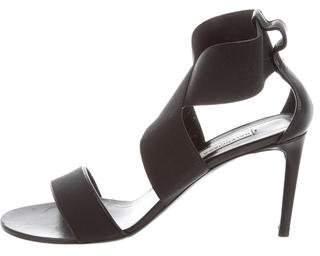 Balenciaga Canvas Ankle Strap Sandals