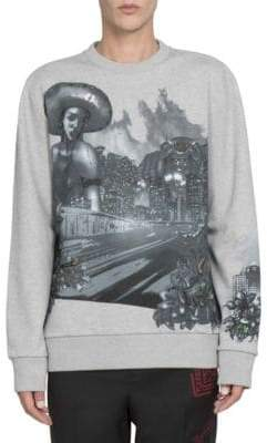 Lanvin Abstract Printed Cotton Sweatshirt