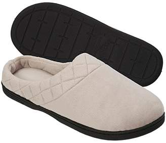 Dearfoams Women's Microfiber Clog Slipper with Quilted Cuff