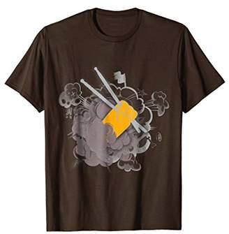 Mens Drums Drumsticks Funny T-Shirt Cool Musical Gift For Drummer Large