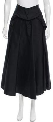 Saint Laurent Silk Midi Skirt w/ Tags