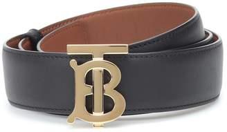 Burberry TB reversible leather belt