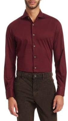 Saks Fifth Avenue COLLECTION Solid Button-Down Shirt