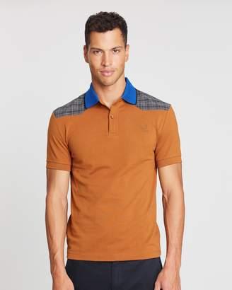 Fred Perry Raf Simons Check Shoulder Pique Shirt