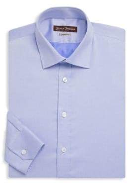 Hickey Freeman Cotton Contemporary-Fit Dress Shirt