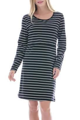 f7935e813b019 Smallshow Women's Stripes Long Sleeve Nursing Dress