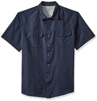G.H. Bass & Co. Men's Size Big and Tall Explorer Fancy Short Sleeve Button Down Shirt