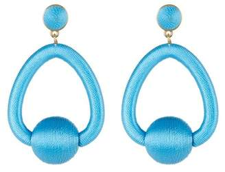 BaubleBar Mariela Woven Hoop Drop Earrings