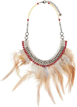 Nakamol Feather Bib Statement Necklace