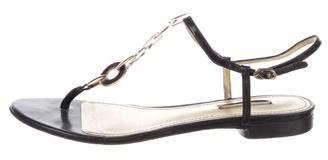 Dolce & Gabbana Patent Leather T-Strap Sandals